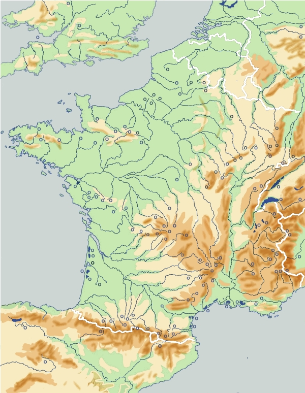 Carte Riviere Et Fleuve De France